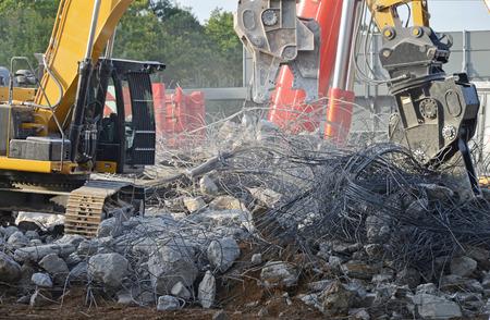 demolition of highway bridge photo