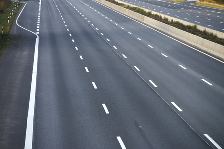 empty 8-lane highway due to road and bridge works