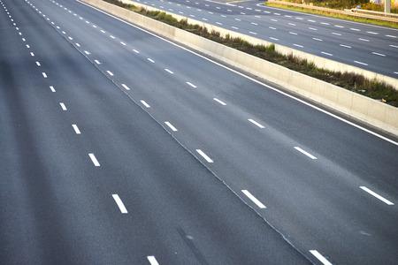 express lane: empty 8-lane highway due to road and bridge works