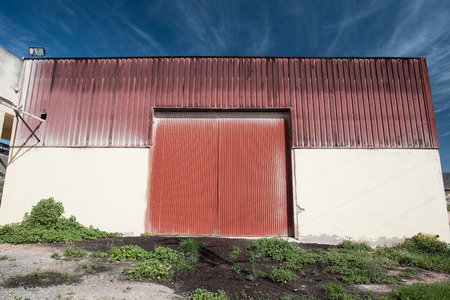old stock warehouse under the sun of Spain photo