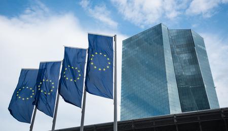 Sehr Neubau der Europäischen Zentralbank EZB in Frankfurt am Main Deutschland