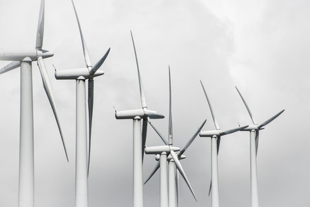 windfarms: windmill-powered plant Stock Photo