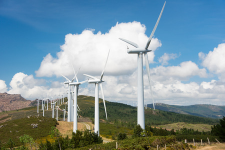 onshore: windmill-powered plant Stock Photo