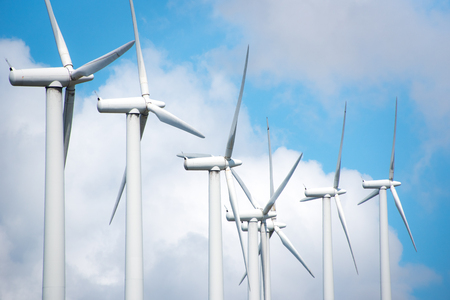 industrial park: windmill powered plant