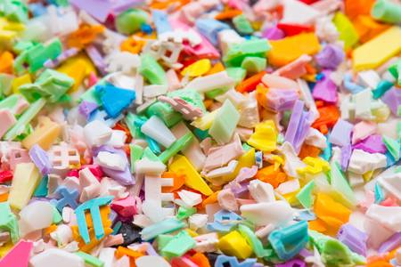 compounding: milled waste of recycling plastic goods
