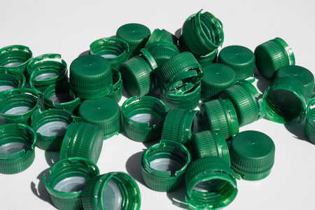 used bottle closures made of High-Density-Polyethylen (HD-PE)