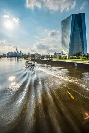thunderhead: new building of european central bank ECB in Frankfurt, Germany