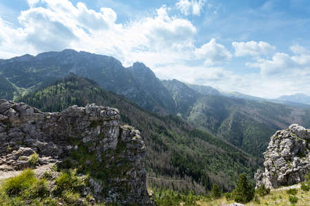 Giewont Peak in Tatra mountains. This file is cleaned and retouched. 写真素材