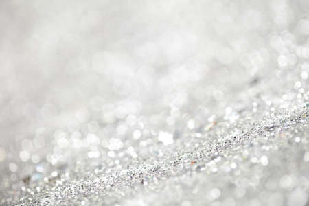 Close up of silver glitter great as background. This file is cleaned and retouched. Standard-Bild