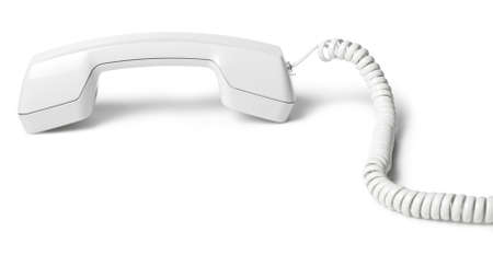 Shot of white Telephone Receiver. clipping path included