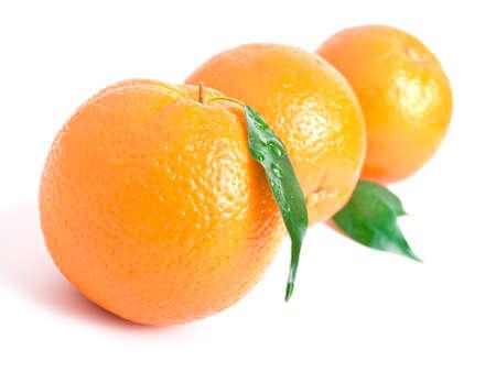shot of fresh orange on white background 版權商用圖片