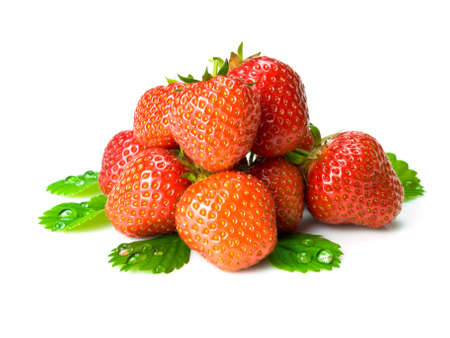 sweet fresh strawberries on white background 스톡 콘텐츠