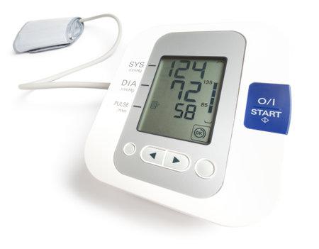 Blood Pressure Gauge on white background Reklamní fotografie