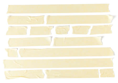 Collection of masking tapes on white. This file is cleaned, retouched and contains clipping paths.