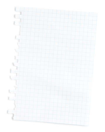 Blank notepad page  white. This file is cleaned, retouched and contains  . 版權商用圖片