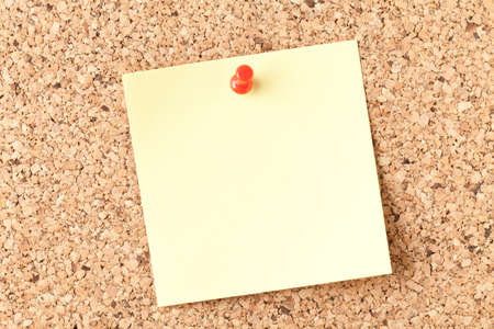 Blank note on bulletin board. This file is cleaned and retouched.