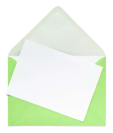 Green envelope white. This file is cleaned, retouched and contains .
