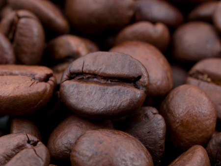 macro of coffee beans great as a background