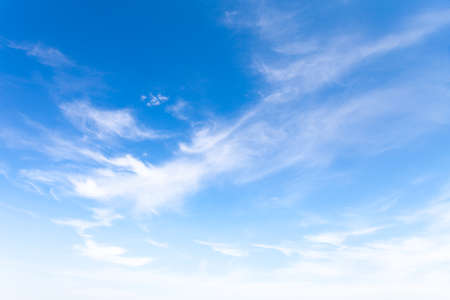 Blue sky with soft clouds great as background. This file is cleaned and retouched. 版權商用圖片