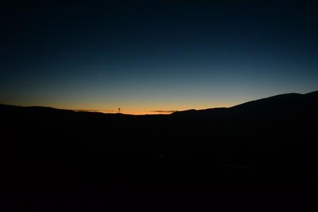 tibet: The sunset in Tibet Stock Photo