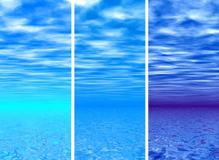 Blue sky andamp,amp, sea - backgrounds