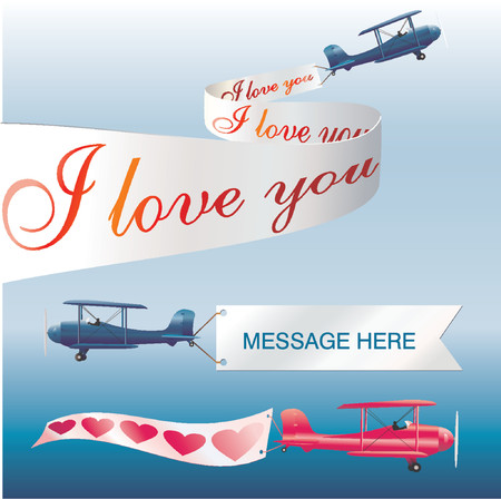 pennant: Air message - vector illustration!
