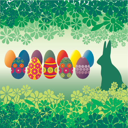 Easter eggs and flowers - vector illustration! Vector