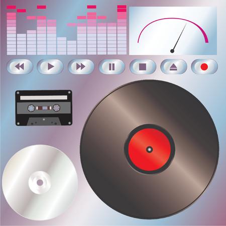music machine: Music tools - Vector!