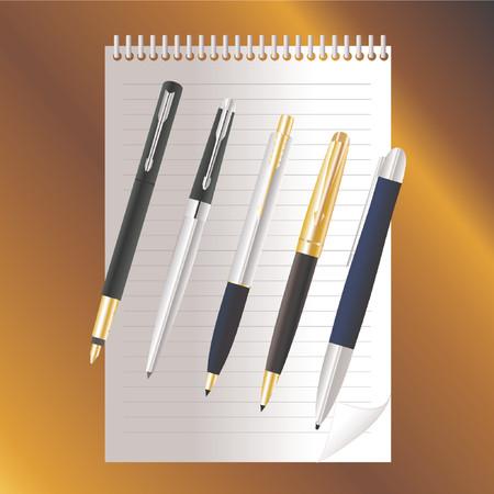 Pens - vector! Vector