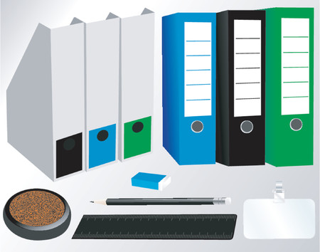 Office supplies vector package Illustration