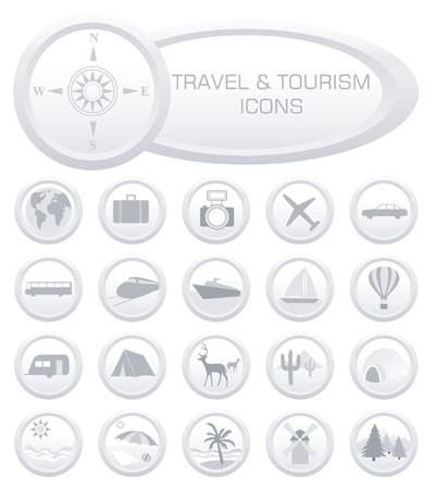 oorkonde: Reizen en toerisme icons - vector illustration