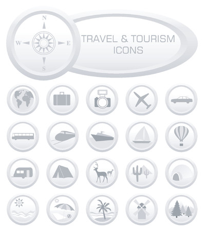 charter: Travel and Tourism icons - vector illustration