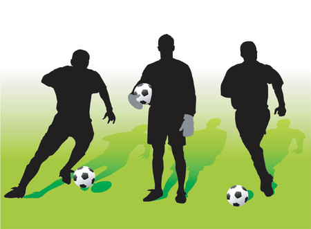 movement control: Soccer players - vector