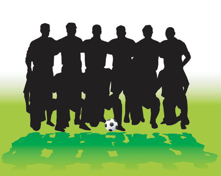 equipe sport: �quipe de football - vecteur