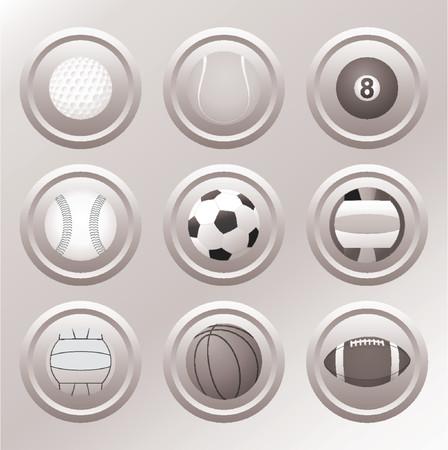 volleying: Balls - VECTOR - DESIGN ELEMENTS