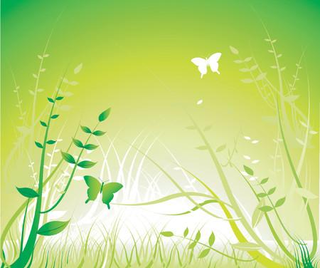 Floral ornament - Green - Vector