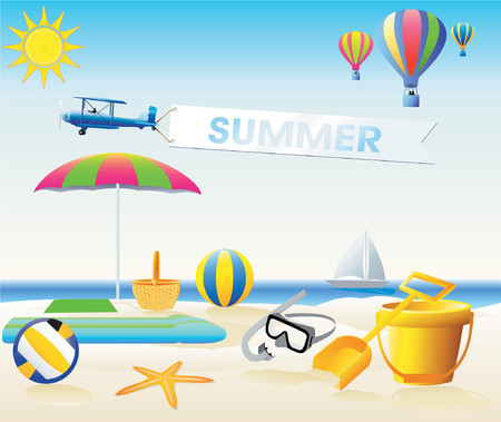 Summer Design Elements Illustration