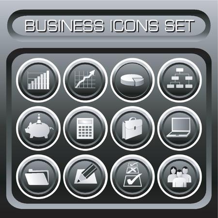Business Icons Set Illustration