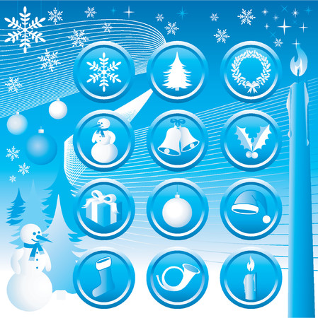 Christmas Icons Set - Vector. (Check out my portfolio for other icons set) Stock Vector - 571057