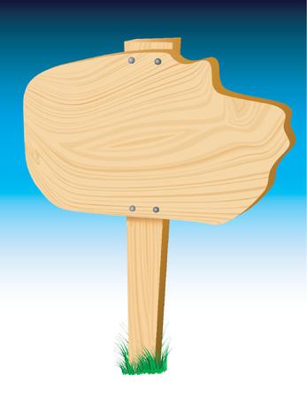 pancarte bois: Vector bois blanc signe  Illustration