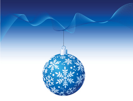 Blue Christmas Ball - Vector Stock Vector - 649312
