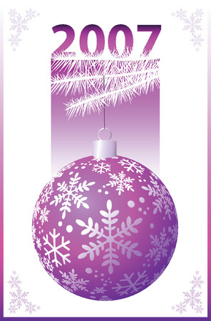 Pink Christmas Ball - Vector