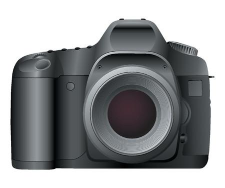 Profrssional SLR Digital Camera Illustration