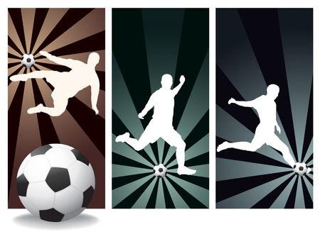 Vector Soccer Players Illustration