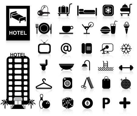 Hôtel Icons set - Vector. Simple changement de couleurs.