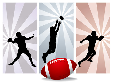 football players: American football players - Vector