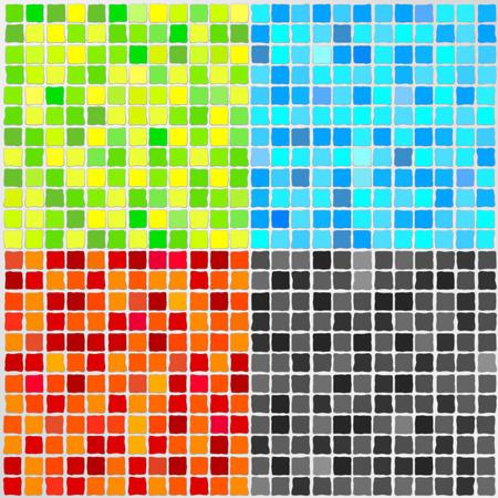mosaic tile: Vector Mosaic Tile - 4 colori