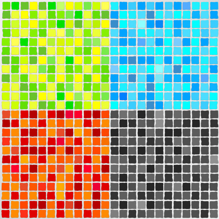 Vector Mosaic Tile - 4 colors