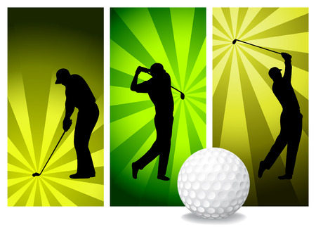 Vector Golf Players Vector