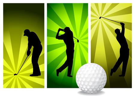 caddie: Vector Golf Players
